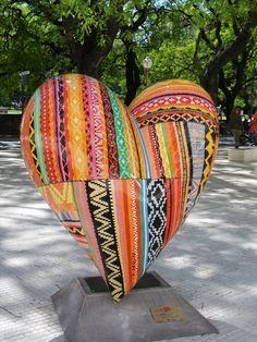 ~ ღ Skuwandi Heart Of Life, Heart In Nature, I Love Heart, Happy Heart, Valentines Art, Valentine Day Love, International Craft, Heart Artwork, Heart Wall