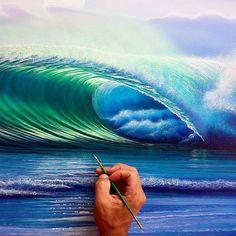 Hilton Alves Bring Aquatic World On Mural and Canvas. | FunPal Studio| Art Artwork Artist Digital Art beautiful  paintings ocean painting nature