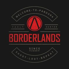 Welcome to Pandora design on @TeePublic! Borderlands Tattoo, Borderlands Art, Borderlands Series, Tales From The Borderlands, Batman, Video Game Posters, Pandora, Some Games, Ps3 Games