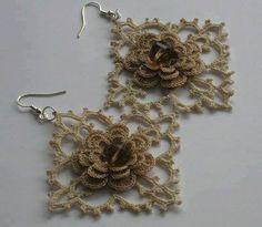 #crochet earrings nice