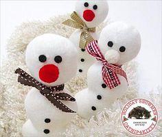 Snowman Catnip Toys - Sew4Home