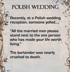 Polish wedding  been years since I went to a polish wedding - they're awesome