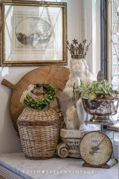 French Farmhouse Kitchen Vignette.