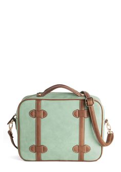 Mint to Be Moving Bag. With this mint satchel swinging by your side, you can stay on the go all day! #mint #modcloth