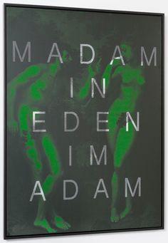 'MADAM IN EDEN IM ADAM' | 'Palindromes Series' (2014) | 160cm x 125cm | Massimo Agostinelli