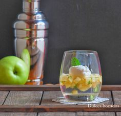 Dulces bocados: Gelatina de gin tonic y manzana