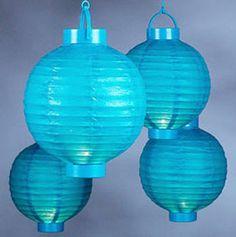 Battery-operated lanterns = no plug necessary!