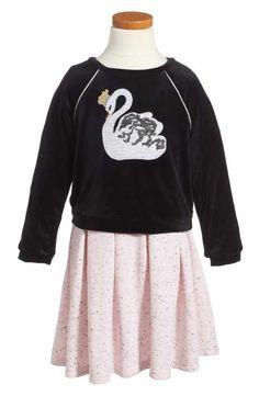 Pippa & Julie Swan Tunic & Dress Set (Toddler Girls & Little Girls)