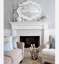 Fire place idea- the mirror is key