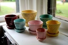 #countryliving #dreambedroom And would be wonderful to find vintage flower pots like these for the plants to grow in!