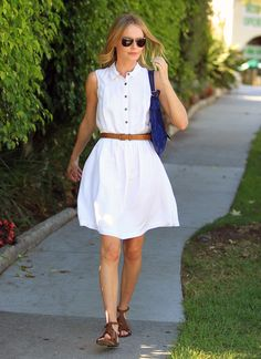 Kate Bosworth: Kate Bosworth showed off her figure in a white dress.