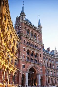 St. Pancras Train Station. The structure narrowly escaped demolition in the 1960s and since has become a Grade 1 listed building. It was built in 1868. #London