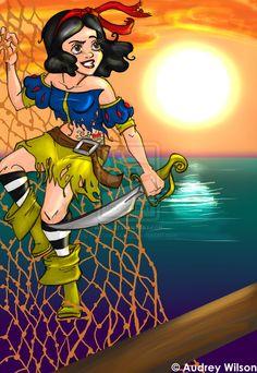 Snow White Pirate by ~PoisonApple88 on deviantART