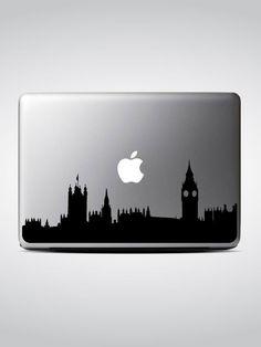 London Skyline Macbook Decal #1 / Macbook Sticker / Laptop Decal