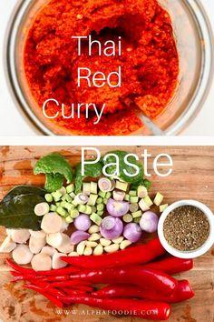 Thai Chili Recipe, Red Curry Recipe, Thai Curry Recipes, Asian Recipes, Vegetarian Recipes, Healthy Recipes, Thai Curry Paste, Thai Red Curry, Asian Cooking
