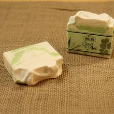 Clover and Aloe Handmade Vegan Olive Oil Soap - Phthalate Free - Decorative Artisan Cold Processed 4oz Bar