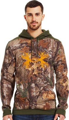 Activewear Tops Friendly Under Armor Mossy Oak Hunting Sweatshirt Xl And Matching Gloves Activewear
