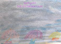 This salt and watercolor painting is perfect for a spring craft!  It looks just like rain.  Great for preschoolers and big kids too!