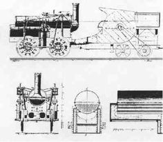 Drawings of the Marc Seguin locomotive.