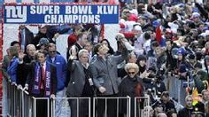 The Giants celebrated in style for winning the Super Bowl.