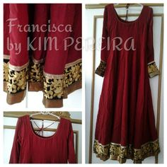 Crepe Silk Wine Anarkali Dress by KimPereiraF on Etsy, $150.00