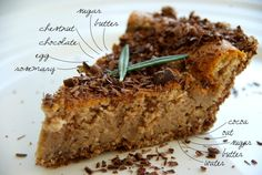 Happy Belly: Chestnut Pie with Chocolate and Rosemary
