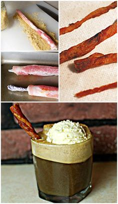 Rum & Coke float with a bacon straw Best Bacon, Bacon Bacon, Cheers, Yummy Treats, Yummy Food, Bacon Recipes, Sandwiches, Fun Drinks, Diy Food