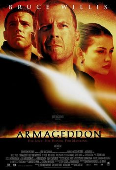 """HTD Canada - Armageddon Movie Poster 27 x """"Armageddon"""" is a 1998 American science fiction disaster thriller film, directed by Michael Bay. Beau Film, Best Action Movies, Great Movies, Awesome Movies, Streaming Movies, Hd Movies, Hd Streaming, Romance Movies, Indie Movies"""