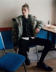 """Kipras Baltrunas in """"The Young Dude"""" by Gareth McConnell for Dazed & Confused July 2012 (Styling by: Bryan McMahon)"""