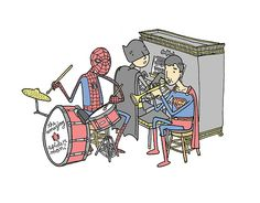 omg SPIDERMAN IS THE DRUMMER IM SPIDERMAN OMG.