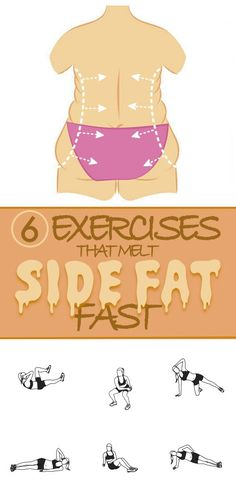 Side fat and Love handles Workouts-How to lose side fat fast and reduce waist size at home