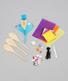 Look what I found on #zulily! Spoon Animal Puppet Craft Kit #zulilyfinds