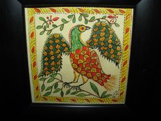 Primitive Folk Art Bird Fraktur by Ohio Folk Artist Judith A Key