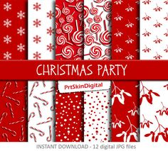 Christmas Party Digital Paper Pack