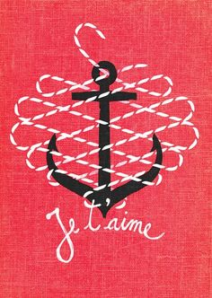 """Je t'aime,"" lettering & illustration by Romanian artist Andrei D. Robu."