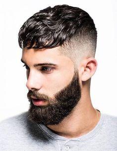 Hairstyles for men - men's Hairstyles - Fade hairstyle - beard styles Mens Hairstyles Fade, Fringe Hairstyles, Hairstyles Haircuts, Haircuts For Men, Simple Hairstyles, Korean Hairstyles, Haircut For Thick Hair, Short Wavy Hair, Wavy Bangs