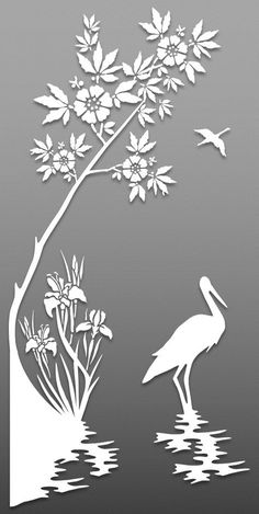 Birds – Cut Outs – Art & Islamic Graphics Stencil Patterns, Stencil Designs, Paint Designs, Metal Clock, Metal Art, Wood Art, Stencils, Stencil Art, Bird Stencil