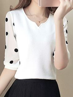 womens shirts and blouses Latest Fashion Clothes, Fashion Dresses, Cheap Womens Tops, Sewing Blouses, Looks Plus Size, Blouse And Skirt, Blouse Online, Blouse Styles, Short Sleeve Blouse