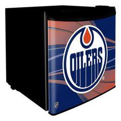 Edmonton Oilers NHL Dorm Room Refrigerator - Sports Fans Plus  - 1