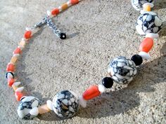 Coral Mosaic Necklace