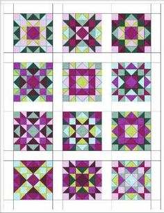 Quilter Guild of Plano, TX block of the month. All the blocks are the same block!