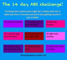 The 14 day abs challenge!