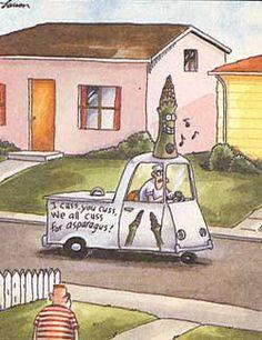 """The Far Side"" by Gary Larson. Ah, I love his sense of humor. Far Side Cartoons, Far Side Comics, Funny Cartoons, Cartoon Humor, Haha Funny, Hilarious, Funny Stuff, Funny Sarcasm, Funny Sayings"
