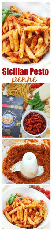 Really nice recipes. Every hour. • sicilian sun dried tomato pesto penne recipe...