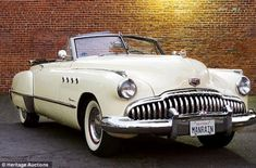 "On the market: The 1949 Buick, pictured, used in the 1988 film, 'Rain Man,' starring Tom Cruise and Dustin Hoffman, is up for sale  ""Straight 8, Fireball 8"""
