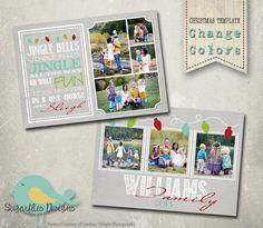 Christmas Card Templates  Family Christmas by SugarfliesDesigns, $8.00
