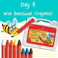 Tag! You're it! To enter today's giveaway, simply Tag us on Instagram. Post a picture of your choice and tag it with #FaberCastell30. You will be automatically entered to win the 24 ct. Beewax Crayons. Visit us on Instagram and start tagging! The more you tag, the more chances that you have to win. Happy tagging! (Entries must be received by 11/8/2015 11:59 PM PST - US shipping address is required)