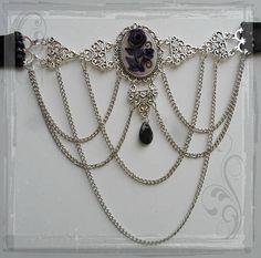 Beautiful cameo rose necklace