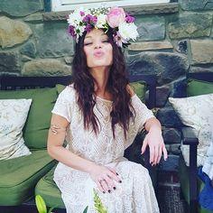 boho bridal shower , flower crown DIY