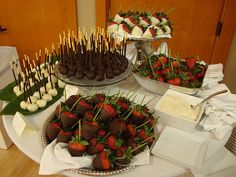 chocolate dipped dessert display